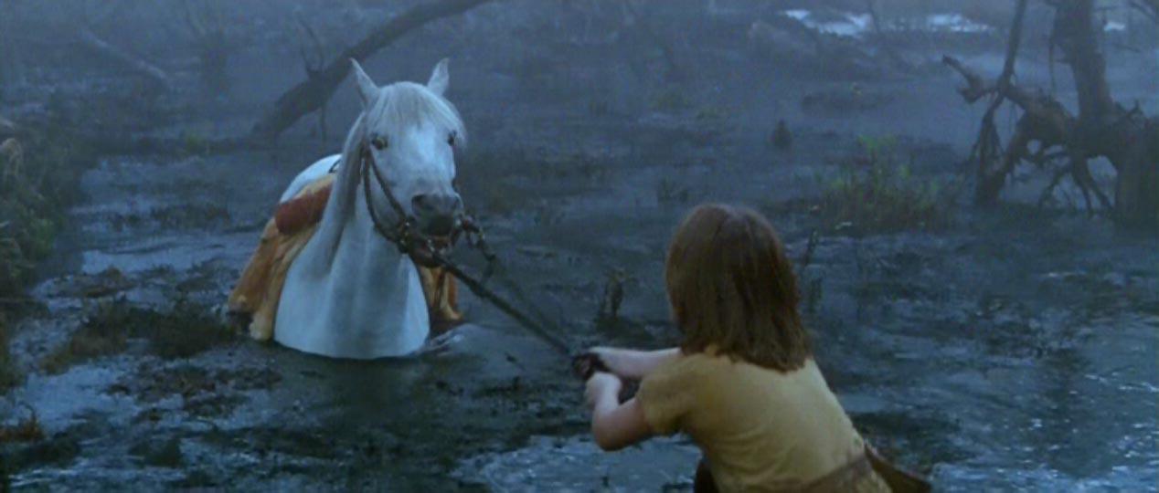 Image result for neverending story horse scene gif