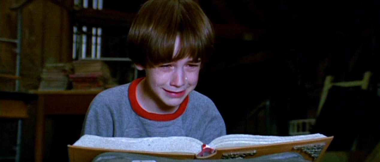 Image result for neverending story bastian crying gif